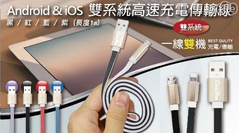 COOLPON/Android/iOS/雙系統/高速/充電傳輸線