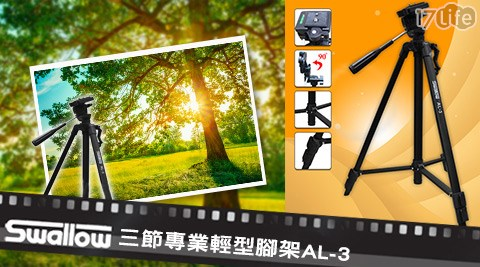 SWALLOW/三節/專業/輕型/腳架/AL-3