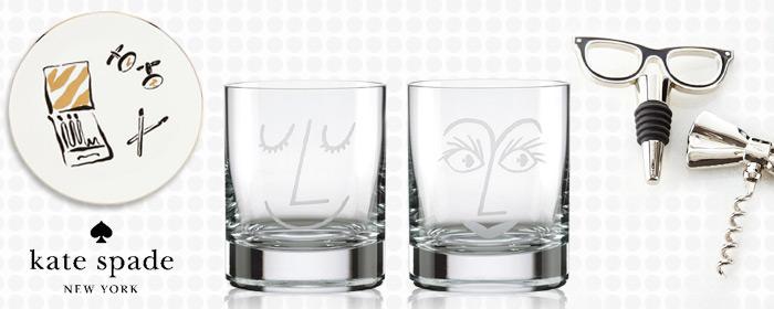 居禮名店.kate spade new york-威士忌對杯/開瓶器酒塞組/馬克杯/置物圓盤 美式風格元素,紐約家飾時尚宣言!浪漫禮服酒器與威士忌情人對杯,完美你我的品酒時光