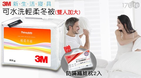 【3M】/Thinsulate/可水洗/輕柔冬被/Z370/雙人加大/IBK-100/防蹣纖維枕