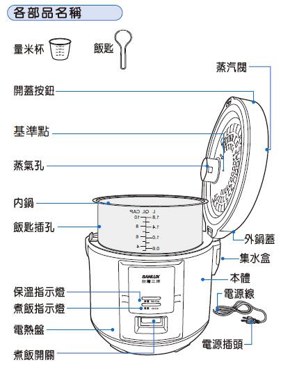 電鍋/電子鍋/三洋