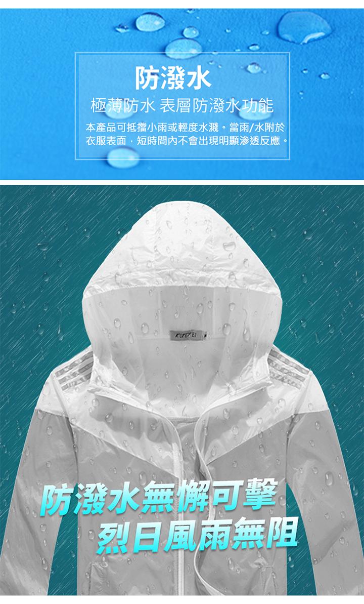 防潑水烈日風雨無阻機能防曬外套