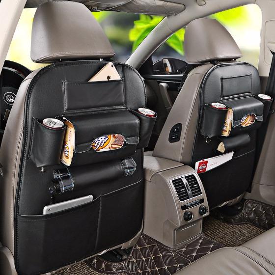 車用皮革椅背收納袋/收納/椅背收納/椅背收納袋