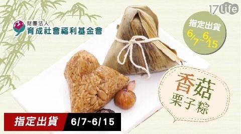 【育成社會福利基金會】永和食堂-香菇栗子粽(160g/顆,共六顆)