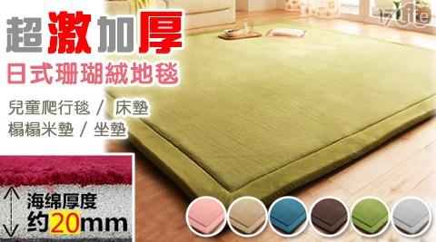 超激加厚日式珊瑚絨地毯