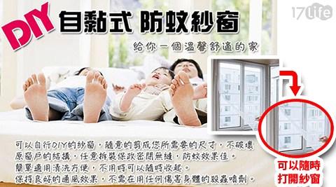 自黏型易裝防蚊紗窗/紗窗/防蚊/居家/環境/窗戶/夏季/蚊蟲