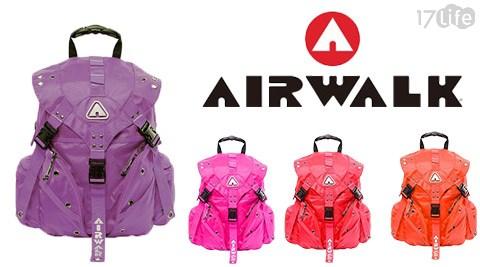AIRWALK/繽紛/三叉釦系列/後背包-小