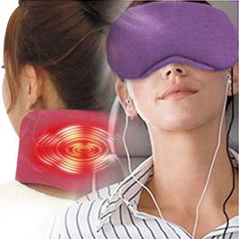 薰衣草療癒USB護頸熱敷器+薰衣草眼罩溫控款超值組合