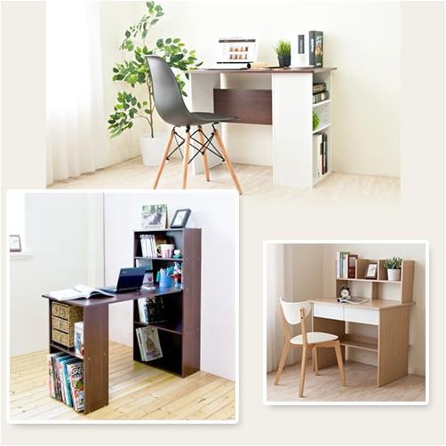 【HOPMA】水漾4+2書櫃型書桌 1入/組
