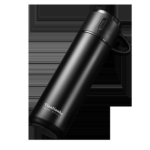 杯蓋式手提304不鏽鋼真空保溫瓶 1入/組