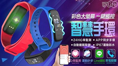智能觸控防水藍芽手環(送兩色錶帶)