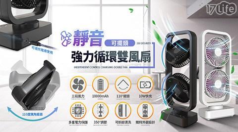風扇/循環扇/靜音/可擺頭/電扇/雙頭/循環