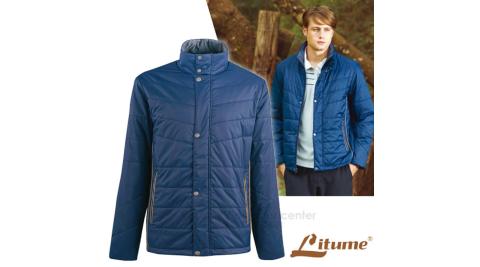 【意都美 Litume】男新款 Primaloft輕量透氣保暖外套/保溫蓄熱.防寒抗風/ H7057 深藍