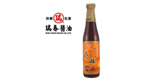 《瑞春》甕釀黑豆油膏(500g±10g/瓶,共12瓶)