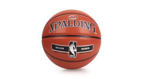 SPALDING NBA-PU 銀色籃球-戶外 NBA 斯伯丁 棕銀@SPA76018@