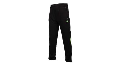 FIRESTAR 男吸排針織長褲-慢跑 路跑 訓練 黑螢光綠@P7976-63@