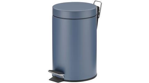 《KELA》簡約腳踏式垃圾桶(藍3L)