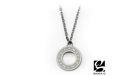 MASSA-G 【CHARM & CHARM】金屬鍺錠白鋼項鍊