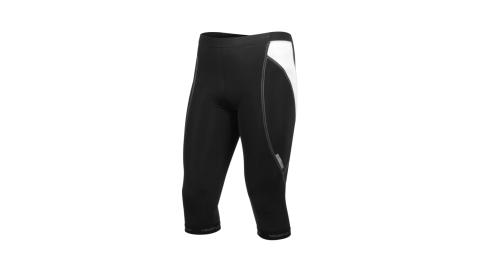 HODARLA 風雷男七分車褲-台灣製 專利蛋杯坐墊 單車 自行車 就愛台灣製 黑白@2202401@
