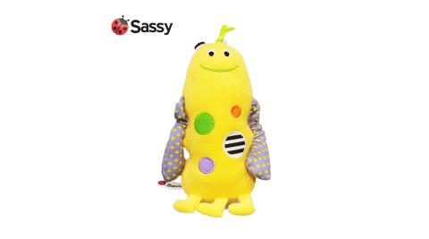美國 Sassy小怪獸搖鈴安撫玩偶 -黃色 長手拉里