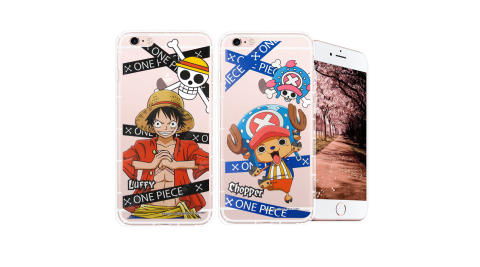 東映授權正版 航海王 iPhone 6s Plus/6 Plus 5.5吋 透明軟式空壓殼