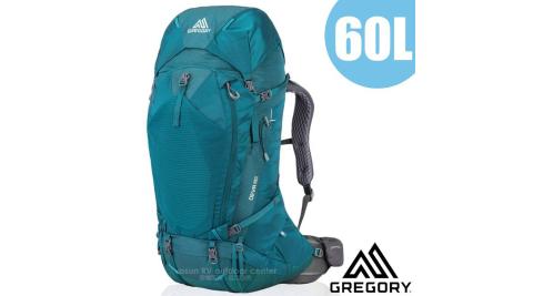 【美國 GREGORY】女新款 DEVA 60L 專業健行登山背包S(附全罩式防雨罩)_91622 安地卡綠