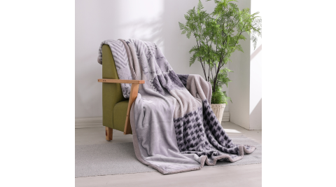 LAMINA 法蘭絨加厚雙面極暖細柔雲毯-經典時尚