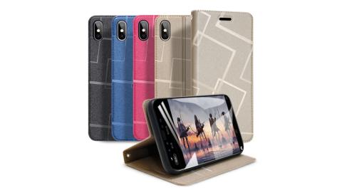 GENTEN for iPhone XS Max 極簡立方磁力手機皮套