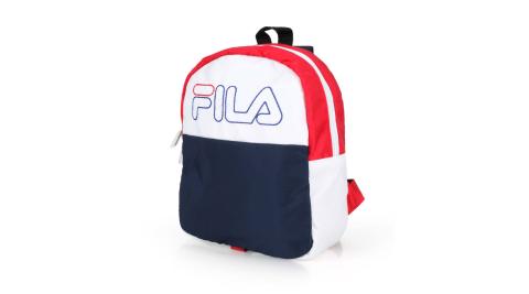 FILA兒童後背包肩背包雙肩包丈青白紅BPT9017BU