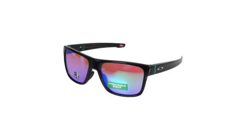 OAKLEY CROSSRANGE一般太陽眼鏡-附鏡袋  抗UV 黑藍綠@OAK-OO9371-1257@