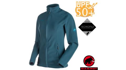 【瑞士 MAMMUT 長毛象】女新款 Yampa ML 彈性保暖刷毛外套.休閒夾克.抗紫外線/24910-5323 獵戶藍