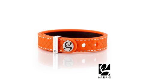 MASSA-G X DECO ONLY U唯你鍺鈦手環-品牌菱格紋(橘)