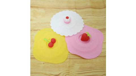 可愛甜點防污杯蓋3入(隨機圖案)