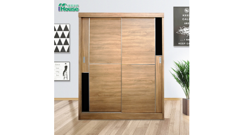 IHouse-雅各 全智能門板自動回歸5尺衣櫃衣櫥