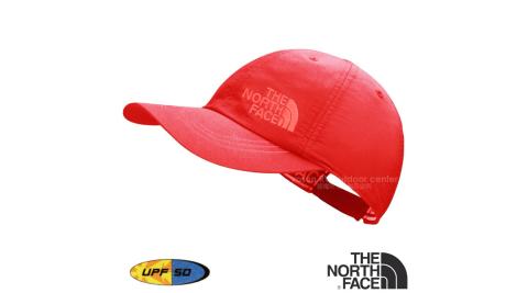 【美國 The North Face】新款 HORIZON BALL CAP 超輕透氣耐磨抗UV棒球帽.防曬帽/抗紫外線 CF9U 辣粉紅 N
