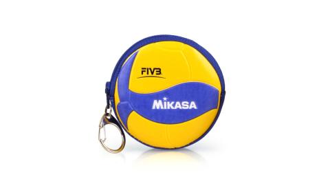 MIKASA 零錢包-鑰匙扣 排球 黃藍@MKAC-CP200W@