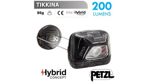 【法國 Petzl】新款 ZIPKA 超輕量緊湊型頭燈(200流明).LED.電子燈/照明燈.登山.露營.手電筒/E93ABA 黑