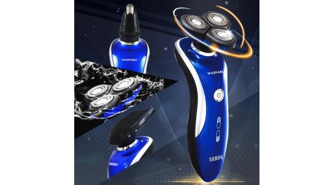 【SAMPO聲寶】3D浮動三刀頭電鬍刀(鼻毛刀/鬢角刀) EA-Z1609WL