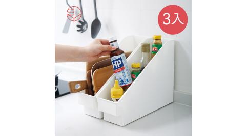 本月特談【日本霜山】斜取式廚櫃隙縫多功能收納盒(附輪)-3入