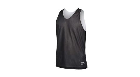 FIRESTAR 男雙面訓練籃球背心-球衣 無袖上衣 運動 吸濕排汗 台灣製 黑白@B1707-15@