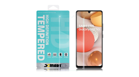 Xmart for 三星 Samsung Galaxy A42 5G 薄型9H玻璃保護貼-非滿版