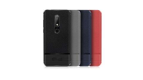 VXTRA Nokia 6.1 Plus 防滑手感皮紋 軟性手機殼