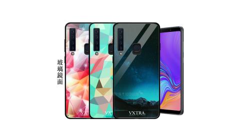 VXTRA 三星 Samsung Galaxy A9 (2018) 鋼化玻璃防滑全包保護殼 手機殼 繽紛系列