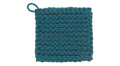 《DANICA》鉤針編織隔熱墊(藍)