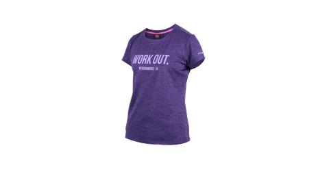 FIRESTAR 女吸濕排汗圓領短袖T恤-慢跑 路跑 紫@DL962-75@