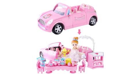 【孩子國】韓版迷你娃娃屋系列-浪漫婚禮跑車/ 家家酒玩具