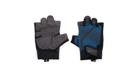 NIKE 男健身手套-重量訓練 半指手套 深藍黑@N0000004486LG@