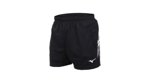 MIZUNO 男排球短褲-三分褲 訓練 運動短褲 美津濃 黑白@V2TB7A0809@