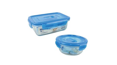 Luminarc樂美雅 2件玻璃保鮮盒組 PB-820+420