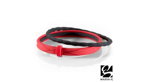 MASSA-G 繽紛幻彩鍺鈦能量手環-紅黑